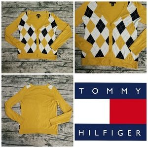 Tommy Hilfiger Argyle Pima Cotton Cardigan S